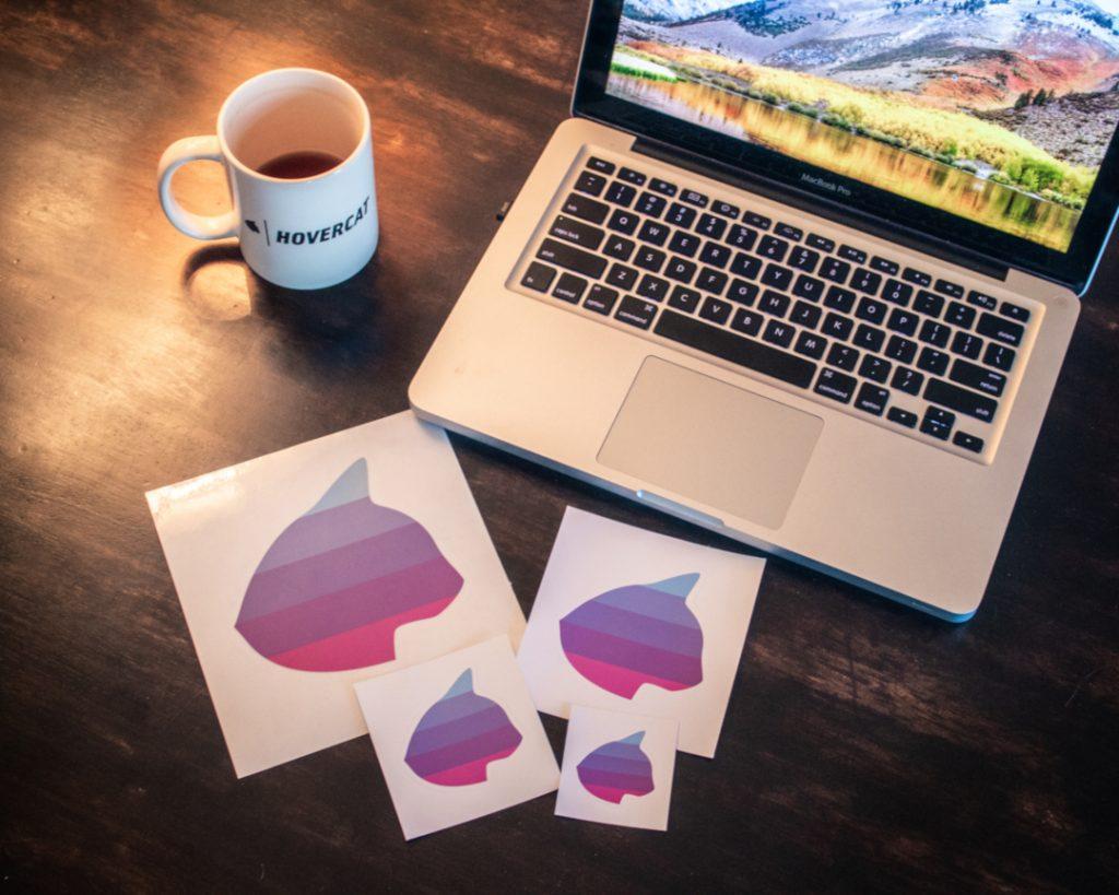 Hovercat Apparel Custom Stickers for Creators
